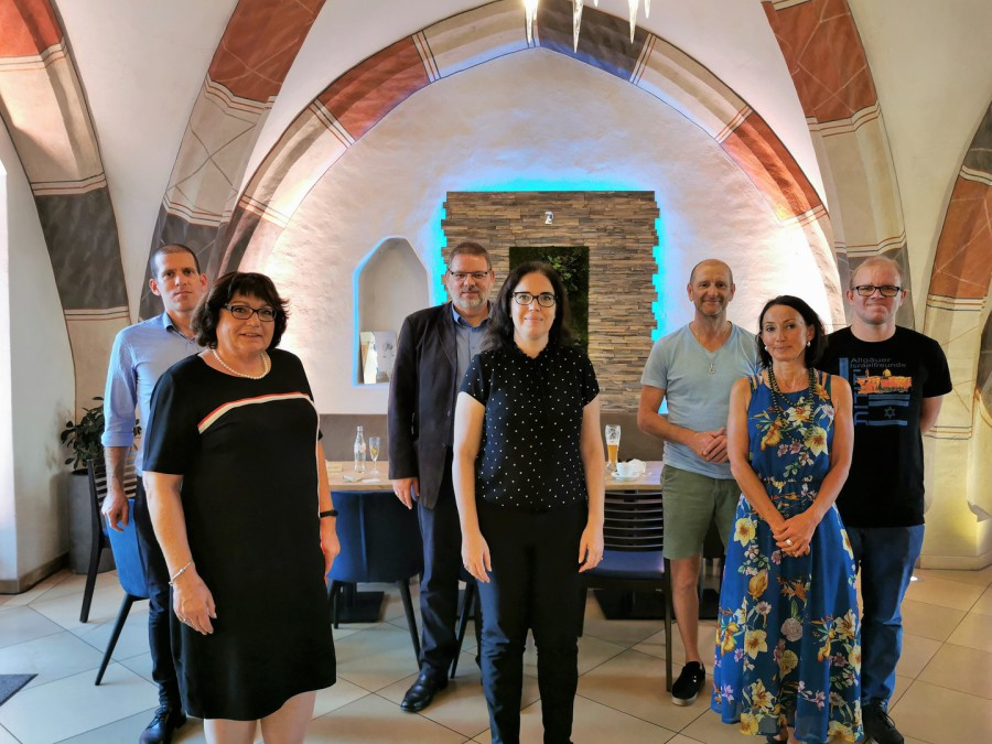 Besuch der Generalkonsulin des Staates Israel Sandra Simovich (Mitte) bei den Allgäuer Israelfreunden